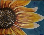 Coffee & Canvas Creations September Sunflower (Class No Longer Available)