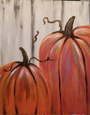 "Coffee & Canvas Creations ""October Pumpkins"" (Class No Longer Available)"